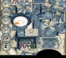 冬天主题剪贴素材图片