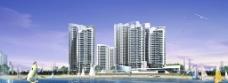 海與房屋廣告素材圖片