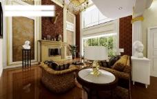 别墅客厅背景图片