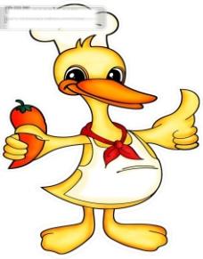 失量图鸭子图标盐水鸭