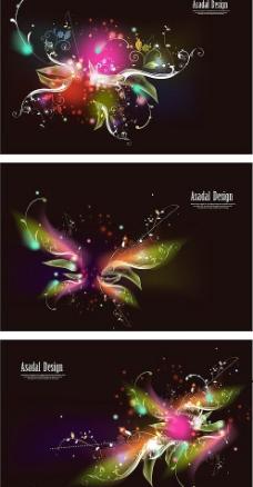 超酷眩光花纹系列矢量素材图片