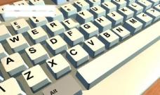 清爽键盘图片
