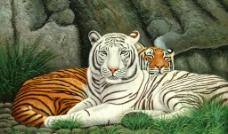 老虎(油画)图片
