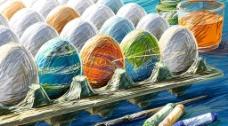 水彩画 彩蛋图片
