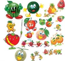 水果卡通人组合图片