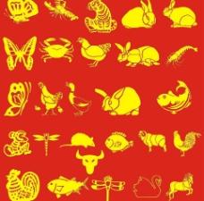 矢量动物(蝴蝶兔子)图片