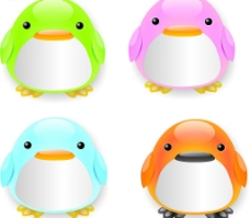 彩色小企鹅图片