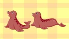 卡通小海豹圖片