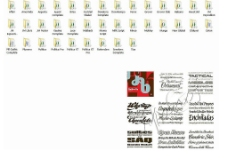 207款英文专用艺术设计字体