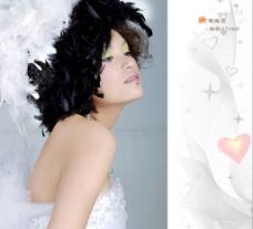 化妆 妆面 婚纱美女17图片
