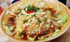 蒜茸粉丝蒸大白菜图片