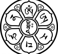 文殊心咒咒轮图片