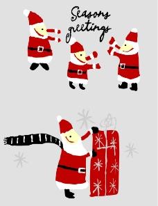 圣诞老人蜡烛上的图片