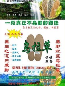 乌拉草鞋垫宣传单页图片