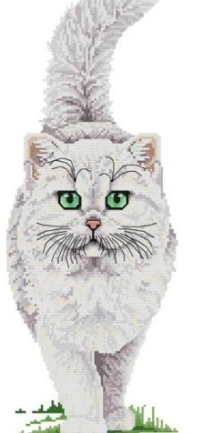 十字绣猫咪图纸