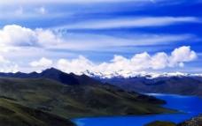 神山圣湖图片
