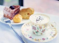 奶油咖啡图片
