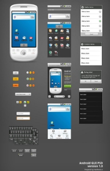 Android手机 GUI PSD分层素材图片