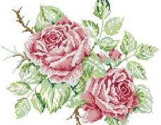 十字绣鲜花图纸图片