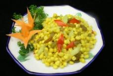 葡萄干炒玉米粒图片