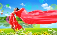 風景舞者圖片