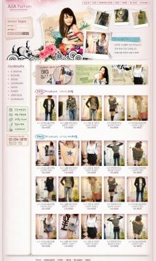 韩国女性时尚网页模板main图片