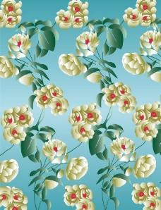 梦幻 白色玫瑰花 移门系列图片