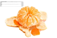 剥了皮的橘子