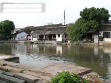 西塘风光 湖水 水中倒影