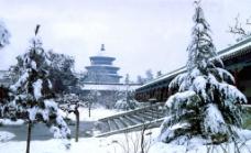 天坛雪景图片