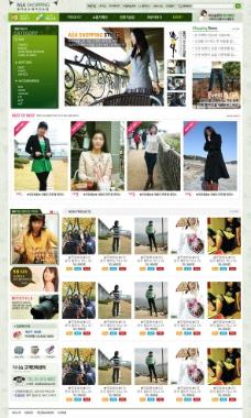 服装商城网站模板图片
