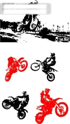 摩托车矢量图