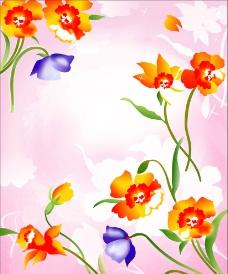 水彩花图片