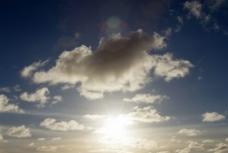 光照天空云彩图片