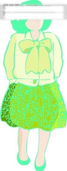 女性漫画矢量图94