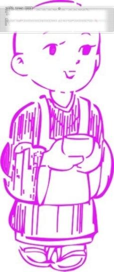 漫画小男生矢量图94