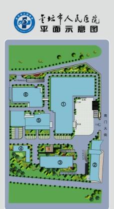 人民医院平面图图片