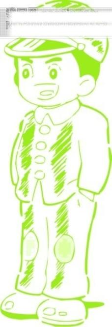 小男生漫画矢量图86