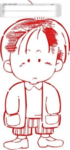 小男生漫画矢量图97