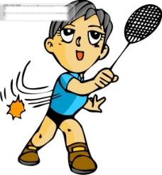 羽毛球比赛矢量图10
