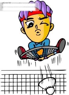 羽毛球比赛矢量图4