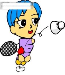 羽毛球比赛矢量图23