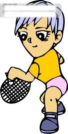 羽毛球比赛矢量图11