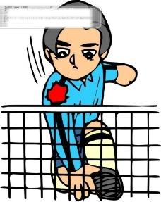 羽毛球比赛矢量图