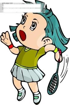 羽毛球比赛矢量图15