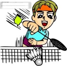 羽毛球比赛矢量图19