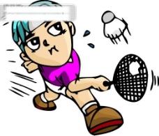 羽毛球比赛矢量图22