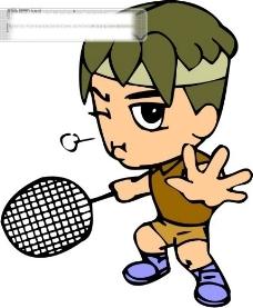 羽毛球比赛矢量图1