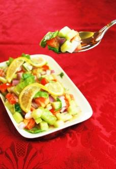 新疆特色 沙拉 湯匙图片