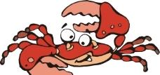 卡通螃蟹圖片